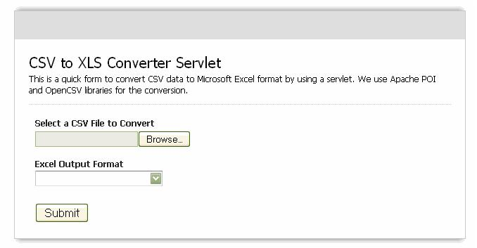 Convert CSV to XLSX Java Servlet Example - Part 1 | ThinkTibits!