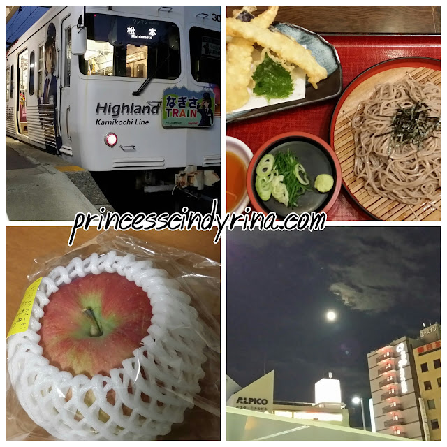 train and food