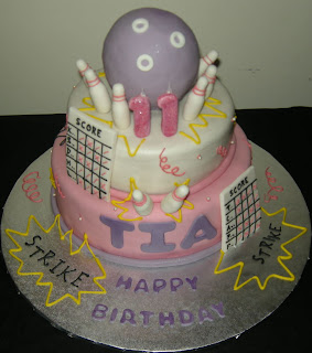Harshi S Cakes Amp Bakes Bowling Theme Cake For Tia