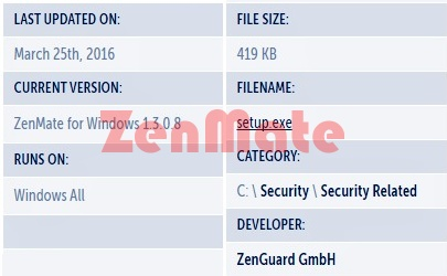 ZenMate for Windows Download