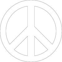 Signo-de-la-paz-y-no-violencia-stickers-molde
