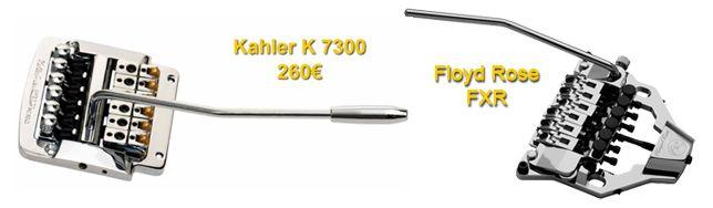Floyd Rose FRX y Kahler K 7300. Puentes Flotantes para Guitarras Les Paul o SG