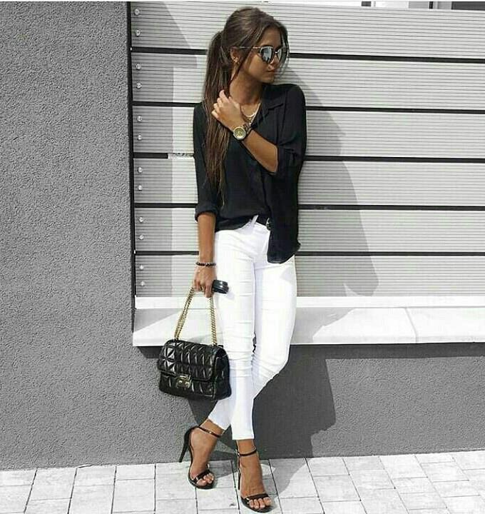 Preto e branco o combo mais chique da moda