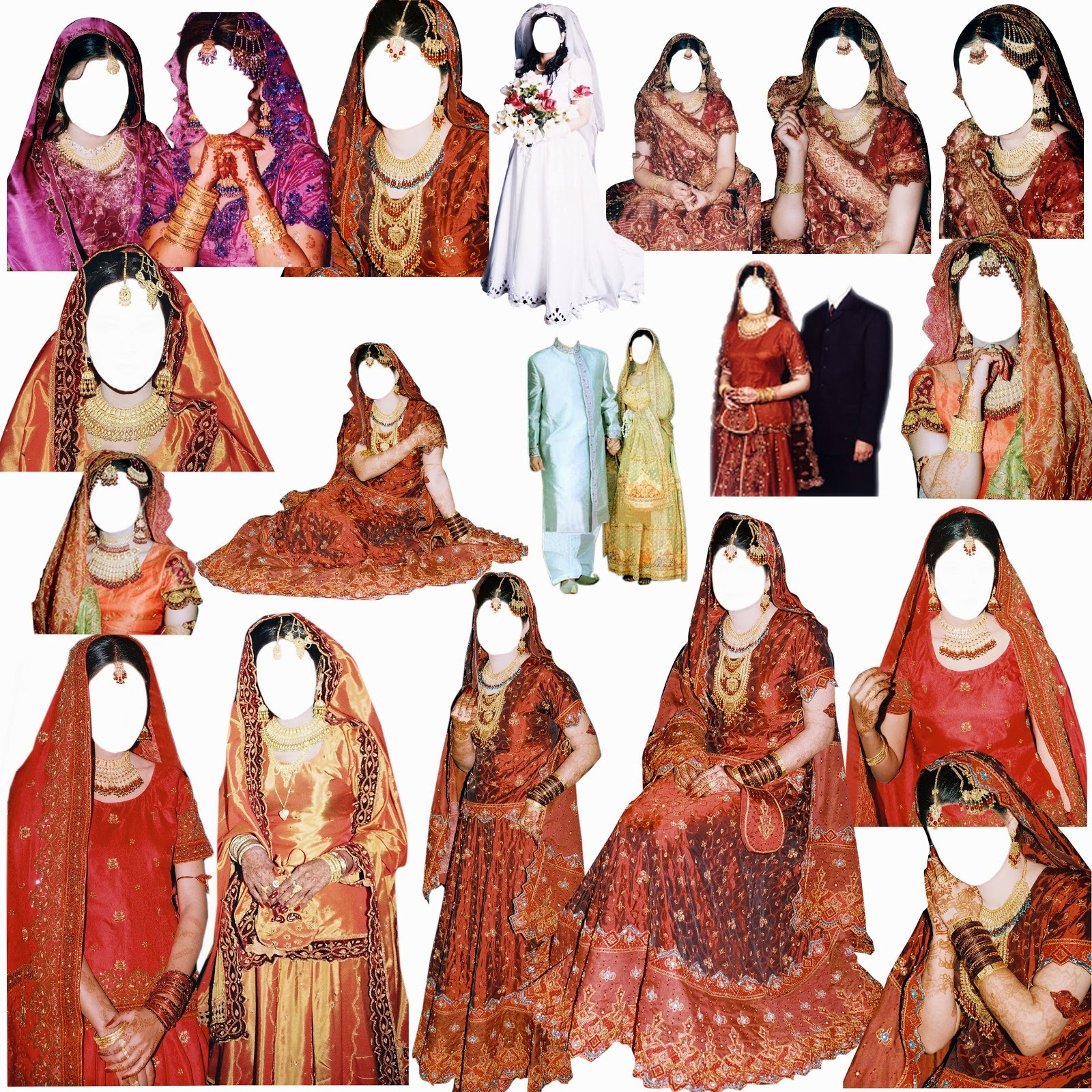 Pakistani Psd Mix Bridal Dress