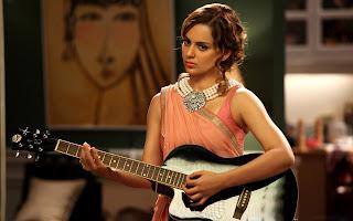 Kangana Ranaut play a guitar wallpapers