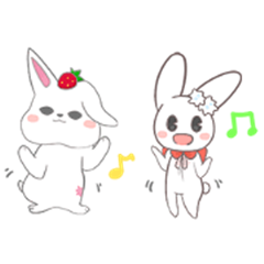 Two-sided Rabbit & Fruit candy