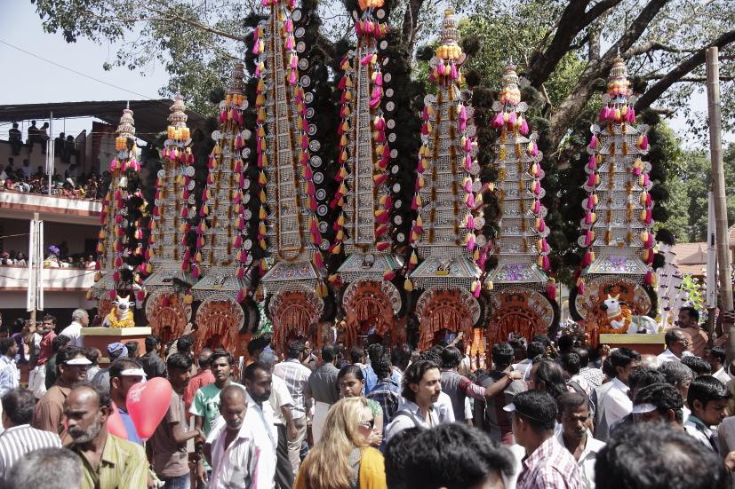 Ambalakkavadi thrissur festival kerala inde