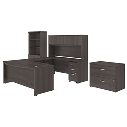 gray office furniture