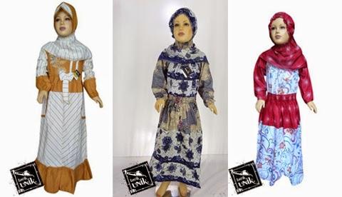 model baju batik gamis anak