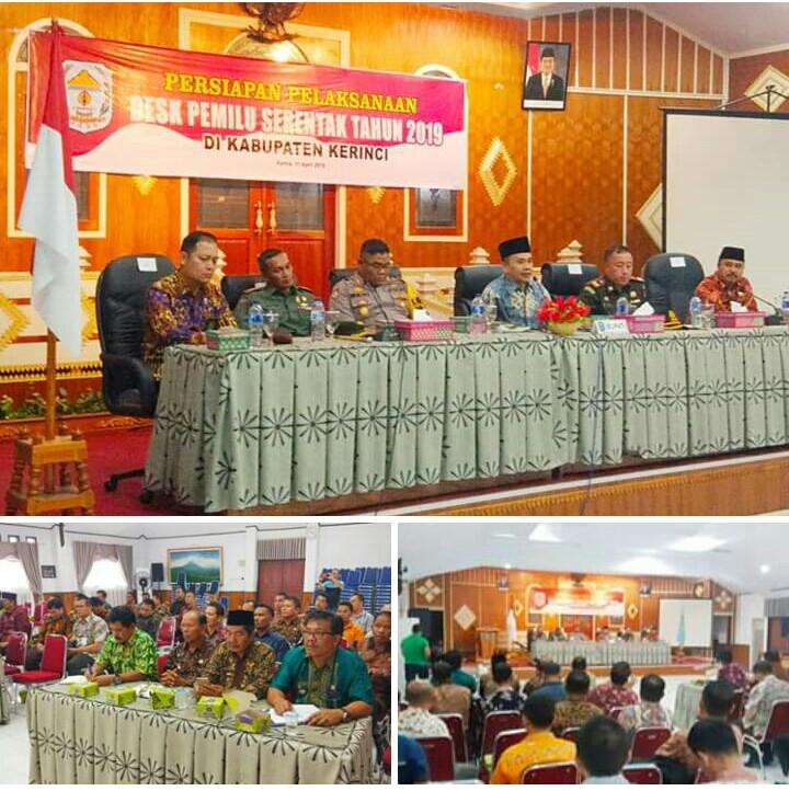 Bupati Adirozal Pimpin Rapat Persiapan Desk Pemilu 2019