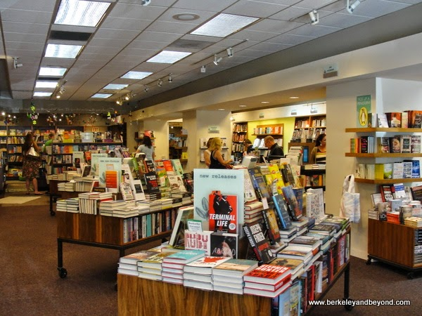 book section at Warwick's in La Jolla, California