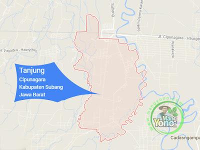 PETA :  Desa Tanjung, Kecamatan Cipunagara