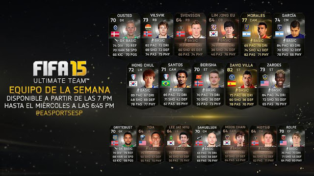 FIFA 15 Ultimate Team TOTW 24 junio