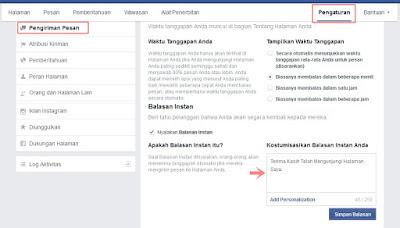 Pesan Balasan Otomatis di Halaman Facebook