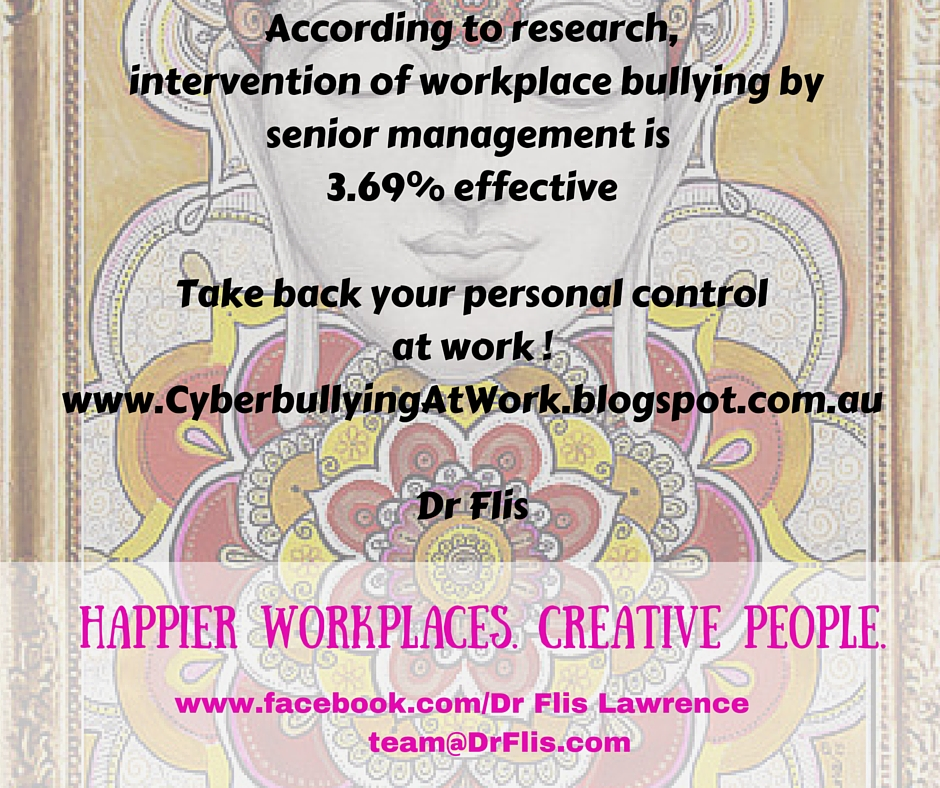 workplace bullying is an effective management tool School of management mbie's mediation service as a tool for repairing workplace relationships following the resolution of conflict is likely to be useful here crimp, hamish (2017), insights into effective interventions for the prevention and management of workplace bullying in the new zealand public service (masters.
