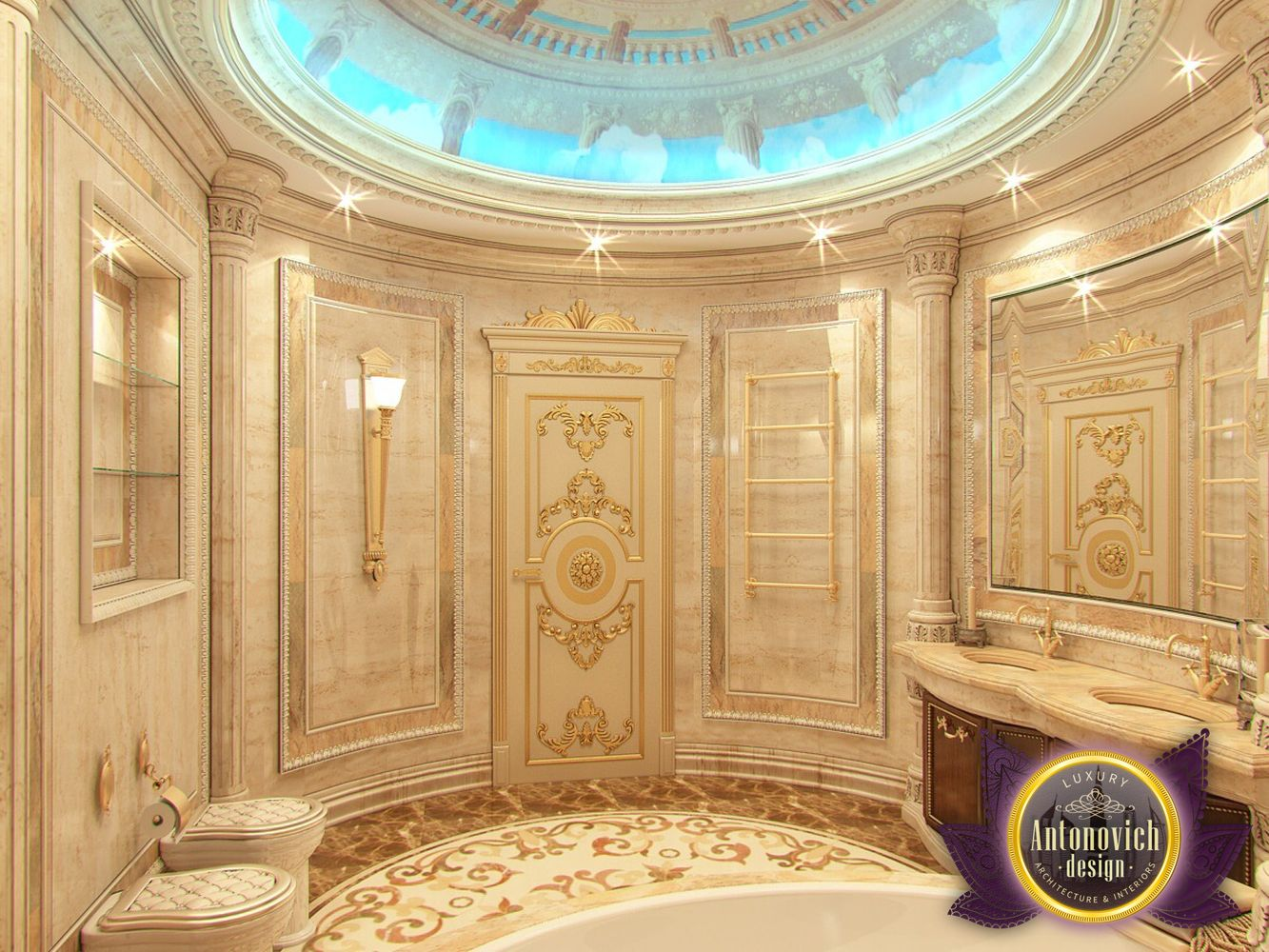 Luxury antonovich design uae bathroom designs by luxury for Bathroom design uae