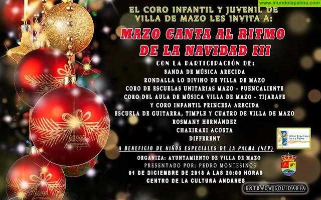 Villa de Mazo organiza el tercer concierto solidario 'Mazo canta a la Navidad'