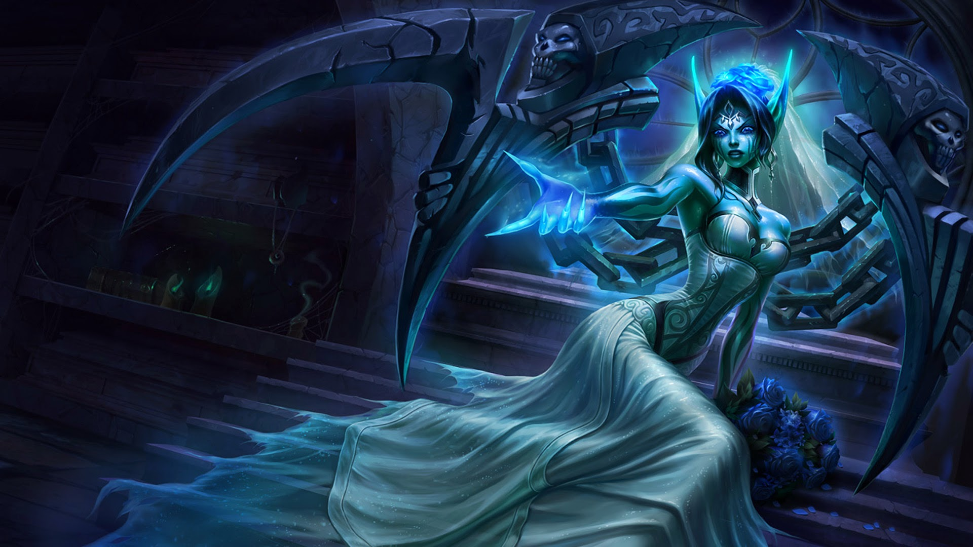 Ghost Bride Morgana LoL Splash 8q Wallpaper HD