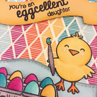 Sunny Studio: A Good Egg Easter Card by Sarah Elliott.