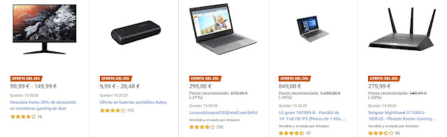 Ofertas 05-03 Amazon 8 Ofertas del Día y 4 Ofertas Flash