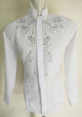 Grosir Baju Koko Putih Model Lengan Panjang Harga Murah