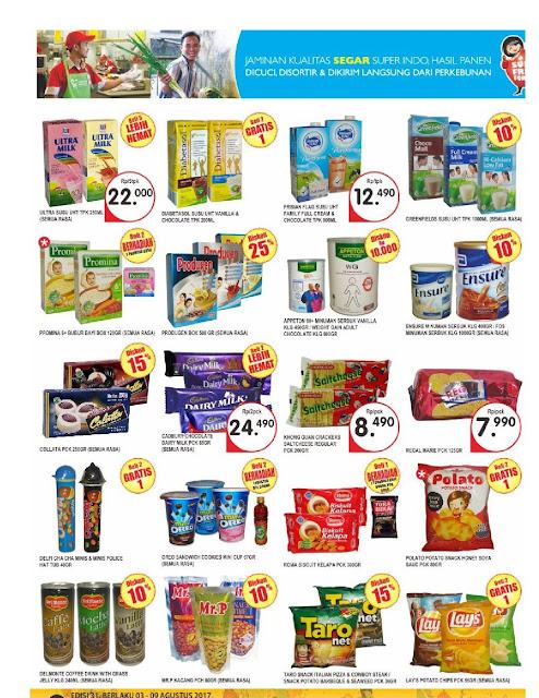 Katalog Brosur Super Indo JaBoDeTaBek dan Palembang edisi 3 Agustus hingga 9 Agustus 2017