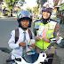 Sticker Millennial Road Safety Festival Dibagikan Polres HST