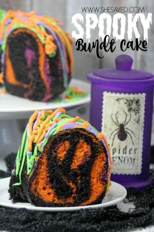 Spooky Bundt Cake from She Saved