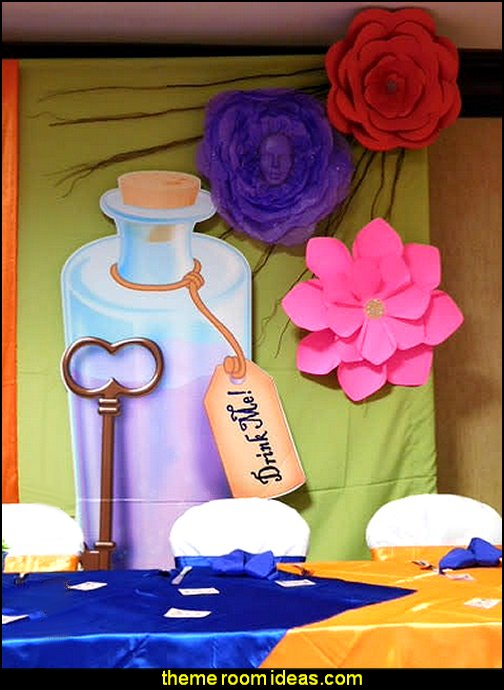5 ft. 1 in. Wonderland Bottle & Key Standee  Alice in Wonderland party decorating ideas - Alice in Wonderland theme party decorations - Alice in Wonderland costumes -  Alice in Wonderlnd wall decals - Alice in Wonderland wall murals -  tea party theme Alice in Wonderland Tea Party