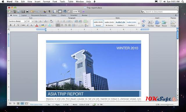 Microsoft Office 2011 For Mac OS Offline Setup Free Download