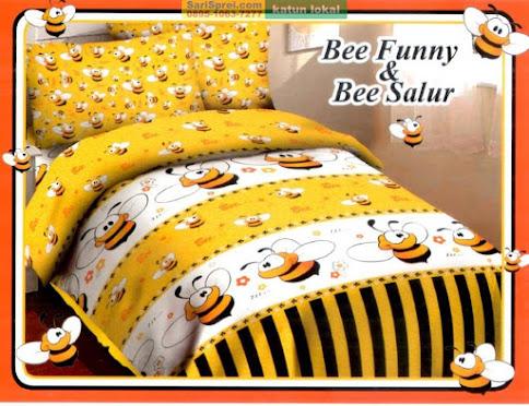 Sprei Katun Motif Anak Bee Funny Fortuna
