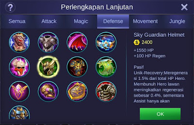 Sky Guardian Helmet Mobile Legends