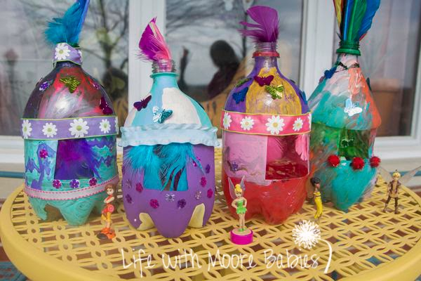 How to Make Adorable Fairy Houses by Recycling Bottles
