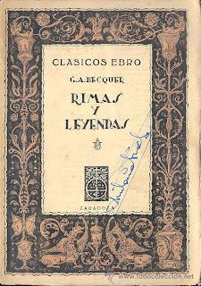 Gustavo Adolfo Bécquer, notas a algunos de sus versos, por Antonio Carvajal, Ancile