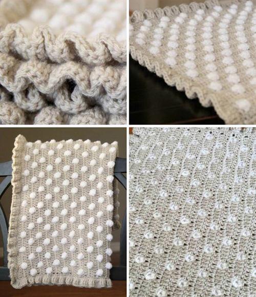 Polka Dot Baby Blanket - Free Pattern