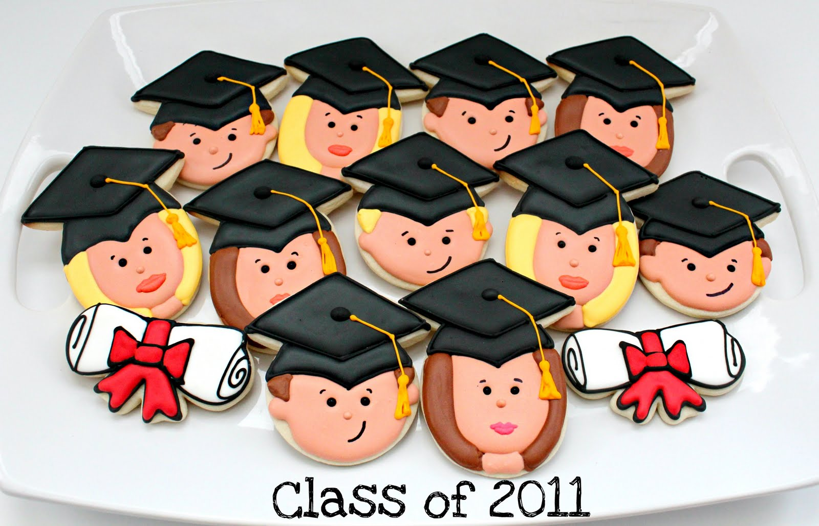 Happy Graduate Face Cookies The Sweet Adventures Of