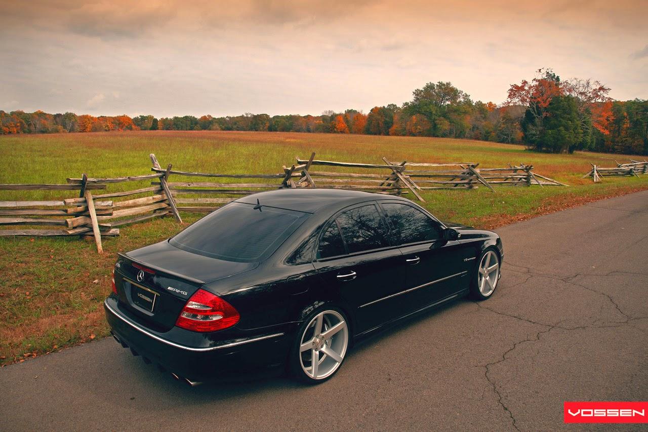 2006 mercedes benz e55 amg w211 on vossen wheels benztuning. Black Bedroom Furniture Sets. Home Design Ideas