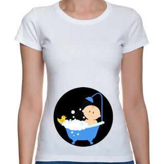 Koszulka dla kobiet w ciąży bobas w kąpieli