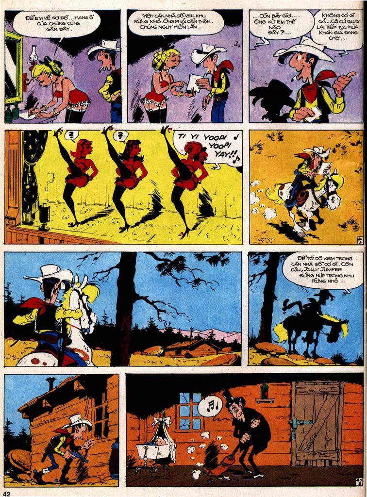 Lucky Luke tap 18 - ki si ao trang trang 40