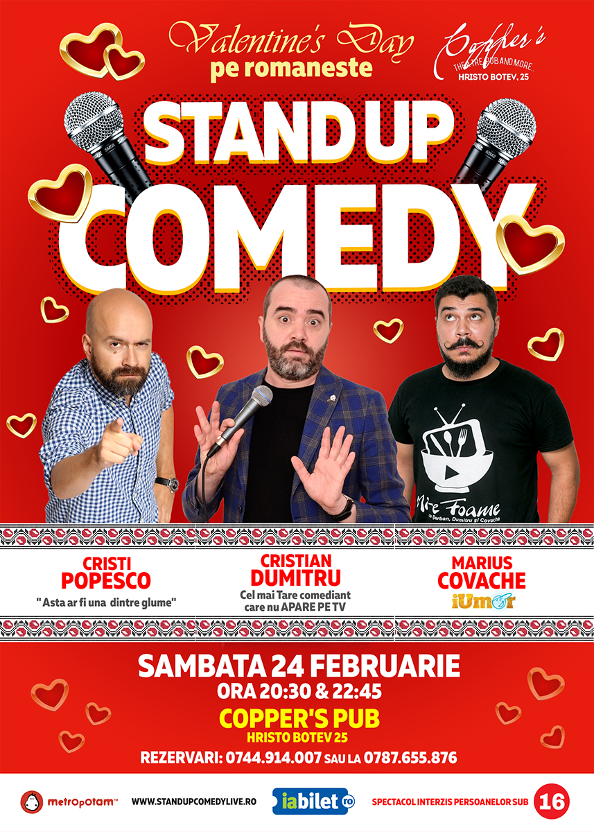 Stand-Up Comedy de Dragobete (Sambata 24 februarie)