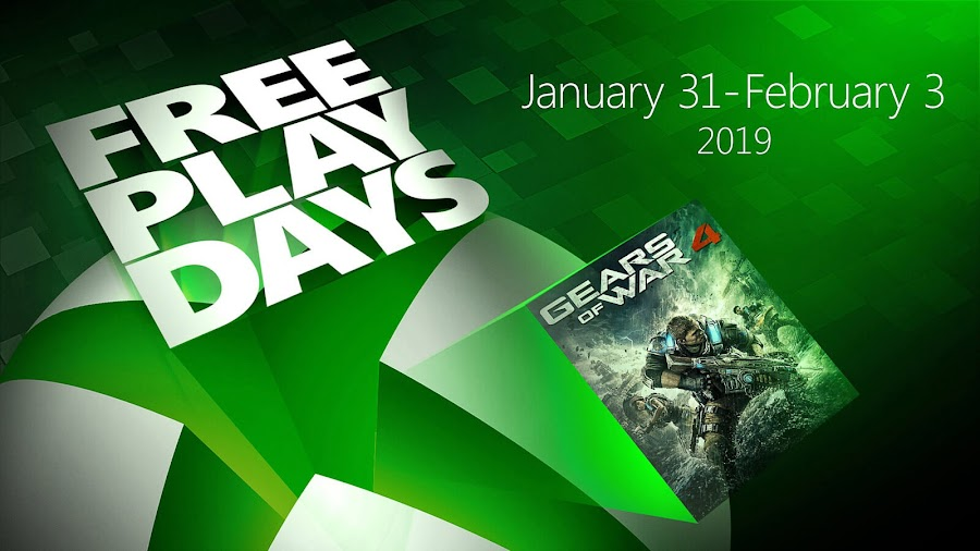 gears of war 4 free play days xbox live gold