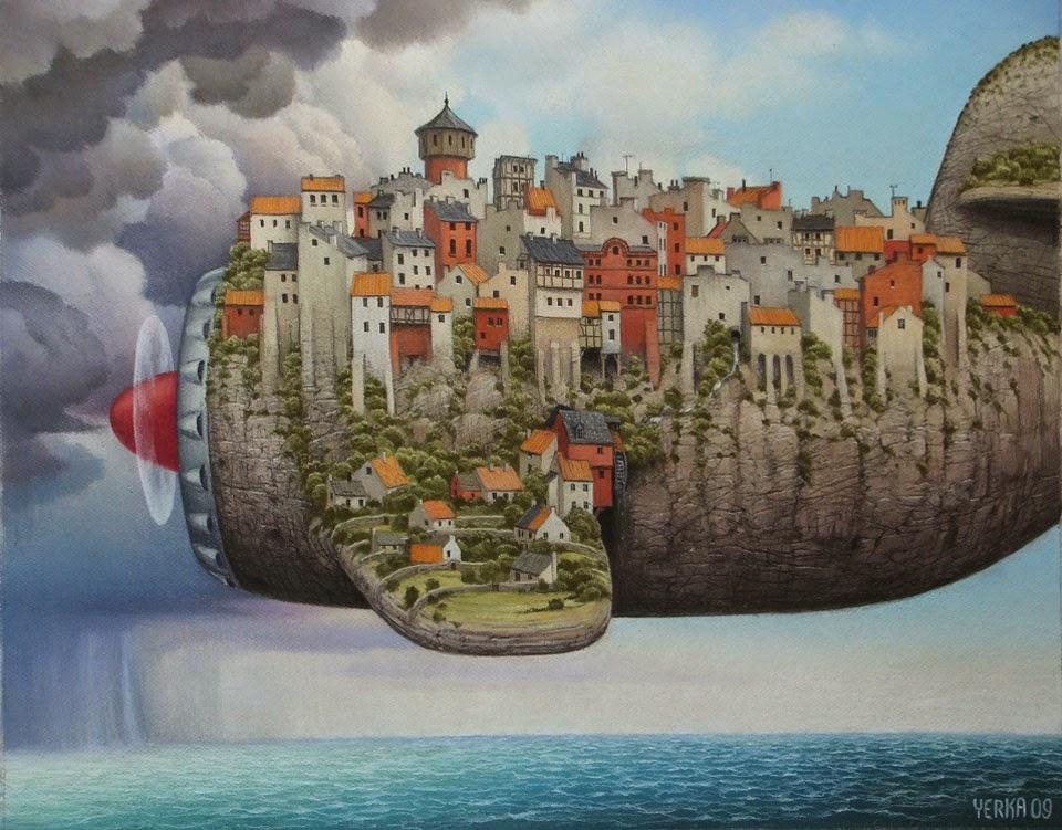 Companhia Aéreas de Baixo Custo - Jacek Yerka e seu surrealismo fantástico ~ Polonês