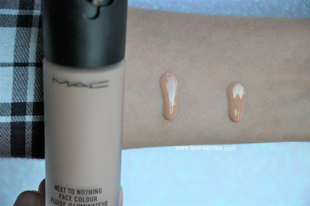MAC Next to nothing foundation swatch
