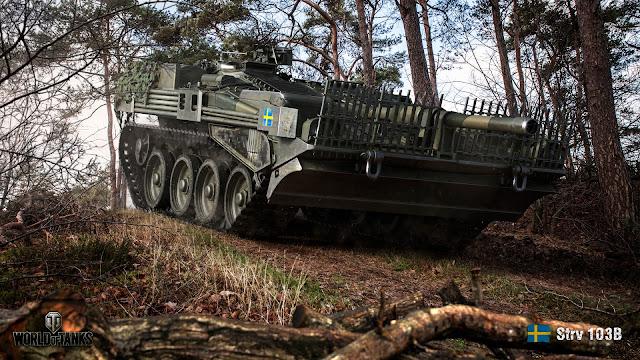 Strv 103B (ảnh render bởi Wargaming)