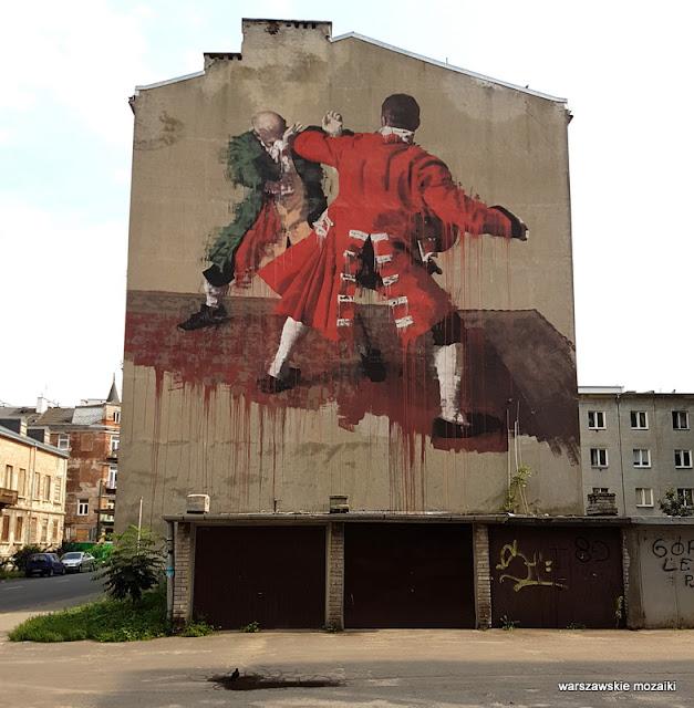 Warszawa Warsaw Praga Północ  mural Środkowa graffiti