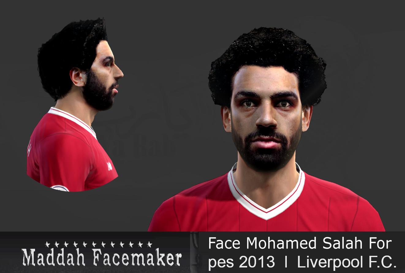Face Mohamed Salah For Pes 2013 by Maddah Facemaker 1