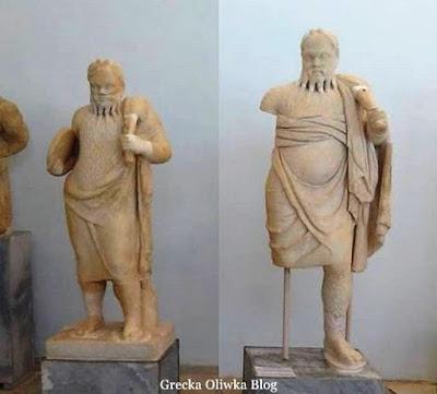 Posągi Dionyzosa. Muzeum Delos