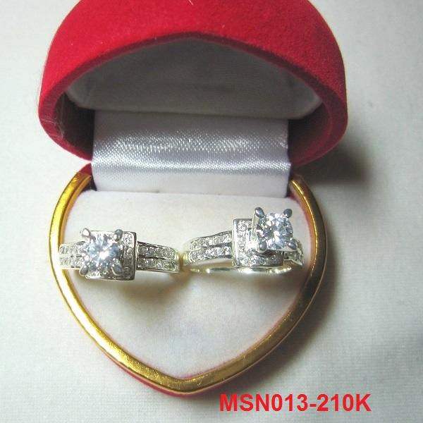 TrangSuc.top - Nhẫn đính đá trắng cao cấp MSN013 - 210.000 VNĐ - Liên hệ mua hàng: 0906846366(Mr.Giang)