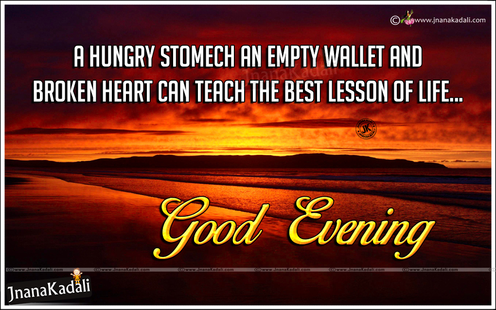 Good Evening Wishes Inspirational Lines In English Heart Touching