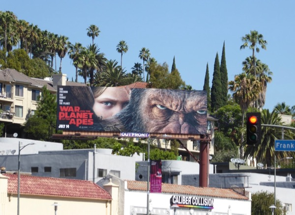 War for Planet of Apes film billboard